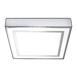 HIB Yona Square Chrome Ceiling Light 2605 x 2605 x 50 mm 660