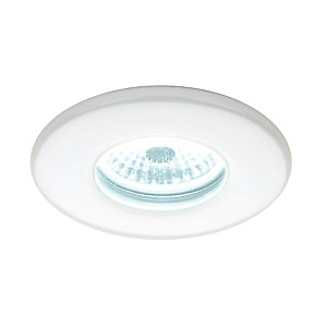 Hib 5830 Cool White Led Fire Rated White Showerlight Width 85 mm