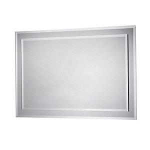 iflo Zora Rectangular Bevelled Bathroom Mirror 600 x 400mm