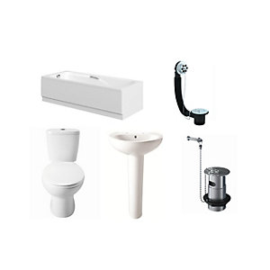 Bb Suite 1TH Acrylic Bath Pack (Bath, Basin & Bath)
