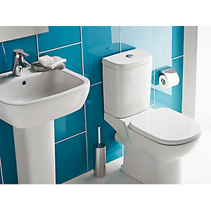 Ideal Standard Tempo White Bathroom Cloakroom 1 Tap Basin Pedestal and Toilet Suite