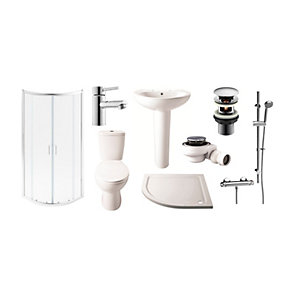 Round Toilet Basin and Enclosure Suite