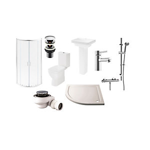 Square Toilet Basin and Enclosure Suite