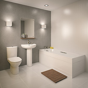 Toilet Vanity Basin and Bath Suite