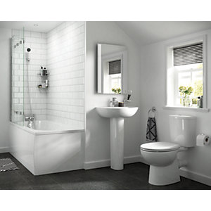 iflo Cascada 2 Taphole Basin & Soft Close Toilet Bundle
