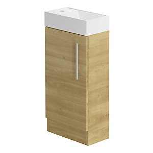 Be Modern 400mm Floorstanding Hand Basin Unit - Odessa Oak