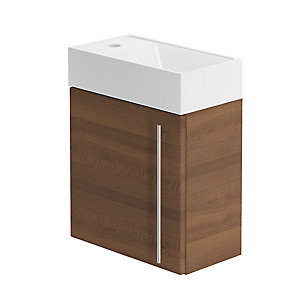 Be Modern 400mm Form Hand Basin Unit Walnut
