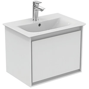 Ideal Standard Philosophy 500mm Wall Hung Vanity Unit 1 Drawer Gls White + Matt White