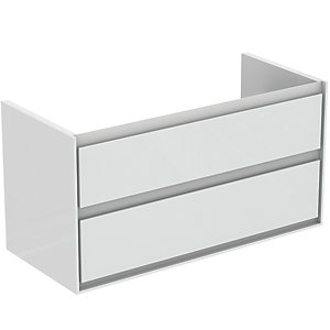 Ideal Standard Philosophy Vanity Unit 1000mm 2 Drawer - Gloss White & Matt White