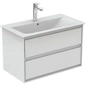 Ideal Standard Philosophy Vanity Unit 800mm 2 Drawer - Gloss White & Matt White
