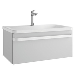 Sottini Ideal Standard Tonic II Basin Unit 800mm Gloss Light Grey 1 Drawer R4303FA