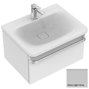 Sottini Ideal Standard Tonic II Vanity Unit 600 Gloss Light Grey Unit 1 Drawer R4302FA