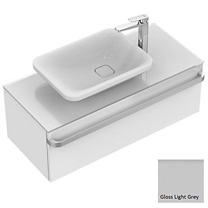 Sottini Tonic II Basin Unit 1000 Gloss Light Grey 1 Drawer