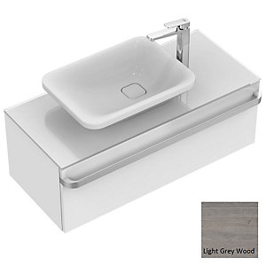 Sottini Tonic II Basin Unit 1000mm 1 Drawer - Light Grey Wood
