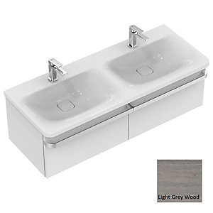 Sottini Tonic II Basin Unit 1200mm 2 Drawer - Light Grey Wood