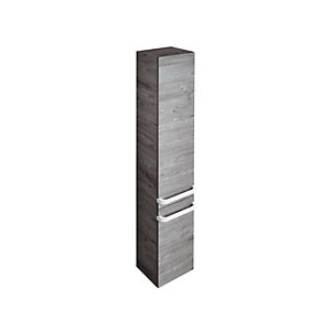 Sottini Tonic II Column 350mm Left Hand 2 Doors - Light Grey Wood