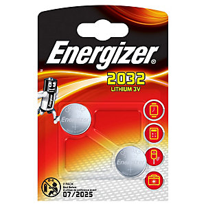 Energizer CR2032 Coin Battery - Pack of 2