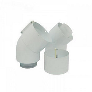 Glow-worm Elbow 45DEG DN60/100 Pp (2 Pieces) 0020257010