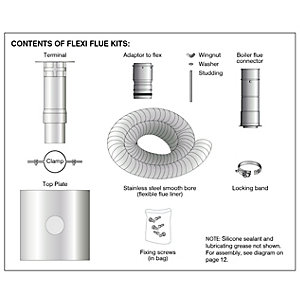 Grant Vortex 100mm x 6m Flex Boiler Flue Liner Kit