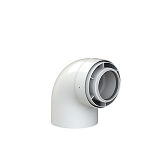 Viessmann SC 87 Degree Boiler Flue Elbow 60/100 mm