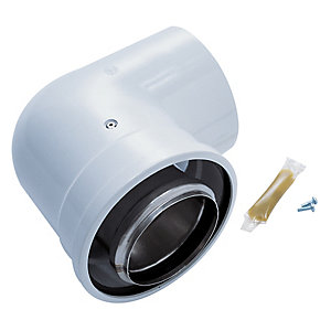 Worcester Bosch Greenstar Oilfit 90 Degree Boiler Flue Elbow 80mm/125mm