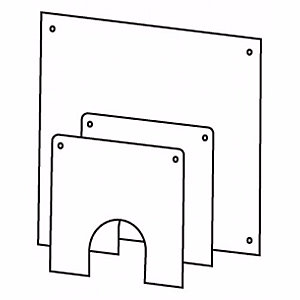 Worcester Greenstar Oilfit Flexible 100mm Dia Flue Wall Cover Plate