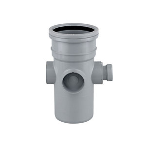 Wavin OsmaSoil System Bossed Pipe Grey 110mm 4S581