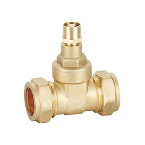 28mm Comp Brass Gate Valve Lock Shield