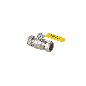 Altecnic Intaball 28 mm Compression Ballvalve Yellow Lever (Gas) AI-331128