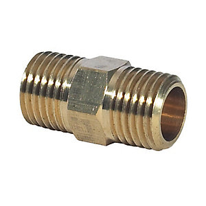 Bn14 1/4inch BSPT Male Hex Nipple Brass