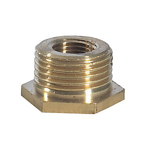Brass Hexagon Bush 1 1/4in x 1in