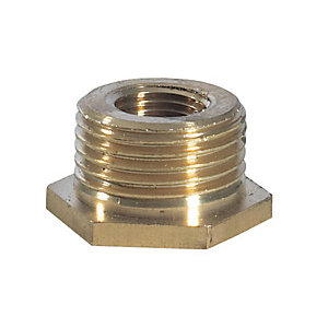 Brass Hexagon Bush 1 1/4in x 3/4in