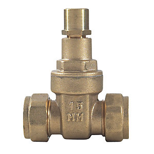 Brass Lockshield Gate Valve 22mm