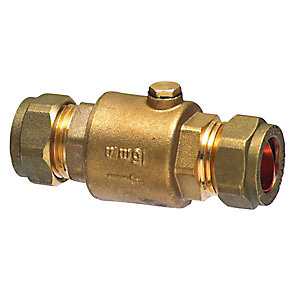 Brass Single Check Valve 28mm
