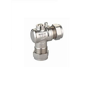 Full Flow 15mm Isolation Valve Angle