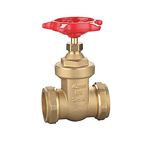 Gate Valve Wheel Head 42mm Brass - BS5154