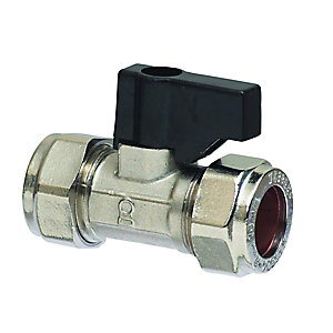 Hand Operated Straight Isolating Valve Chrome 15mm
