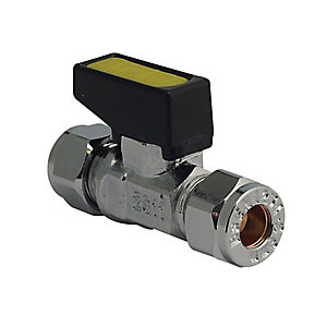 Mini Gas Ballvalve Chrome 8mm