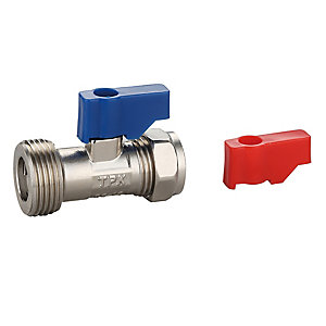 PlumbRight 15mm x 3/4in Washing Machine Valve & Check Valve
