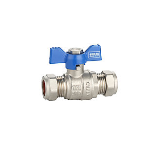 PlumbRight 22mm T-bar Valve Blue