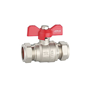 PlumbRight 22mm T-bar Valve Red