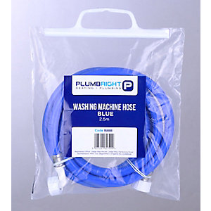 PlumbRight Blue 2.5m Washing Machine Hose