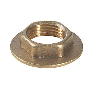 PlumbRight Compression Brass Flanged Backnut 38mm