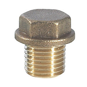 PlumbRight Compression Brass Flanged Plug 9mm