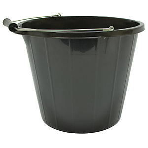 Strata Multi Purpose Builders Bucket 14L Black