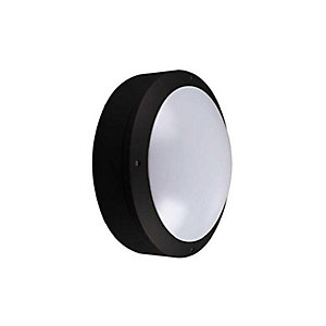 Kosnic KBHDDC3S65/E-BLK Circular Cast Bulkhead Plain Emergency Option Bla