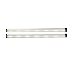 Warm White LED Under Cabinet Light With Sensor - Twin Pack