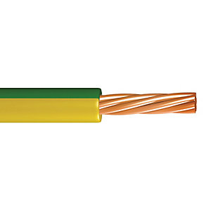 6491X 10.0mm 1 Core Green / Yellow Cable - 50m Drum