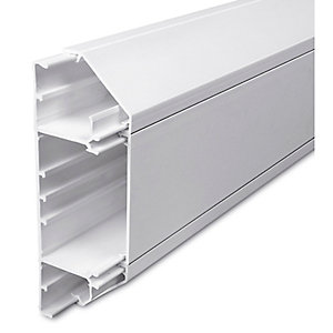Univolt SLC50/170 50 x 170mm 3m 3 Compartment Dado Trunking Length