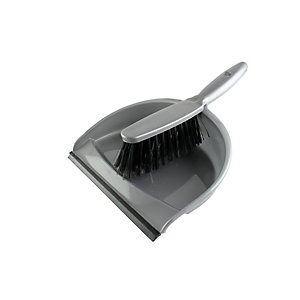 4TRADE Soft Dustpan and Brush Set